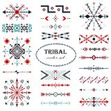 Colorful traditional vector set. Brush set in tribal style royalty free illustration