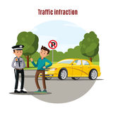 Colorful Traffic Violation Concept Stock Photo