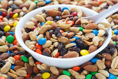 Trail Mix in White Bowl Royalty Free Stock Photography