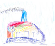 Colorful train Royalty Free Stock Photo
