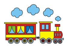 Colorful train Stock Photos