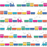 Colorful trains background Stock Photo