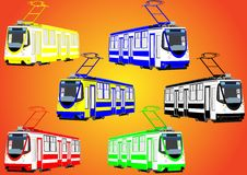 Colorful trams Royalty Free Stock Image