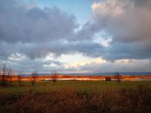 Vibrant tranquil countryside at Naszaly, Hungary royalty free stock photography