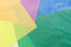 Colorful translucent construction paper Stock Photography