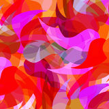 Colorful transparensу background with simple Paisley elements, Royalty Free Stock Images