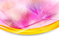 Colorful transparent banner with border Royalty Free Stock Photography