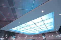 Colorful transparent ceiling Royalty Free Stock Photos