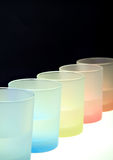 Colorful transparent glasses Royalty Free Stock Photos