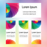 Colorful Transparent Overlapping Ellipses Design. Templates for Fliers, Banners, Badges, Posters, Stickers Royalty Free Stock Images