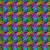Colorful transparent skulls over dark background Royalty Free Stock Image