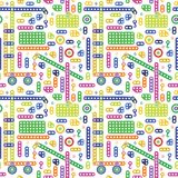 Colorful transport pattern Royalty Free Stock Photos
