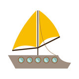 Colorful transport yacht icon design. Vector illustration vector illustration