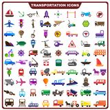 Colorful Transportation Icon Stock Photos