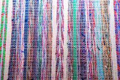 Colorful Transsylvanian home made carpet close up shot stock photography