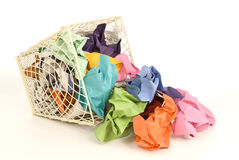 Colorful Trash Spill Stock Image
