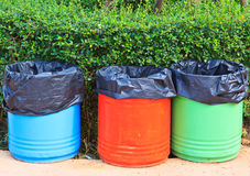 Colorful trashcan Stock Images