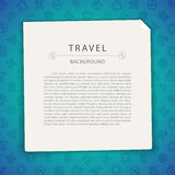 Colorful Travel Background with Copy Space Stock Image