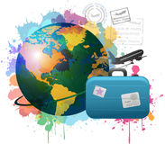 Colorful travel concept Royalty Free Stock Image