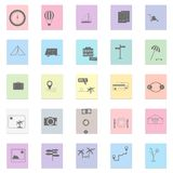 Colorful travel icon set Royalty Free Stock Images