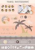 Colorful Travel Infographics Illustration Royalty Free Stock Photography