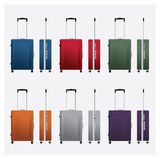 Colorful travel luggage vector illustrations Stock Photography