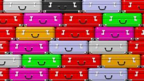Colorful travel suitcases Royalty Free Stock Images