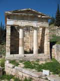 Colorful Treasury Building - Delphi, Greece Royalty Free Stock Photography