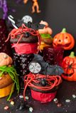 Colorful treats for Halloween Stock Photo