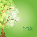 Colorful tree. With green background stock illustration
