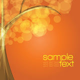 Colorful tree. With orange-brown background stock illustration