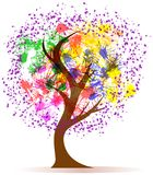 Colorful tree. Abstract colorful tree, illustration, on white back royalty free illustration