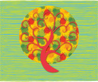 Colorful tree. Abstract colorful tree, beautiful illustration design Royalty Free Stock Images