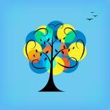 Colorful tree. Stock Photos