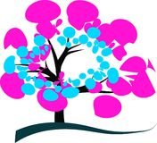 Colorful Tree Design Stock Images