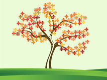 Colorful tree. Colorful floral tree suitable for kids stuff stock illustration