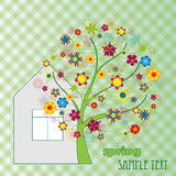 Colorful tree with flowers Royalty Free Stock Photos