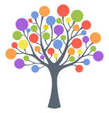 Colorful tree. Tree with fruits in different colors Royalty Free Stock Photo
