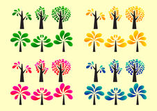 Colorful tree icon Royalty Free Stock Images