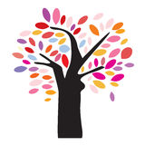 Colorful Tree Illustration Royalty Free Stock Photography