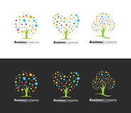 Colorful Tree Logo Royalty Free Stock Photos