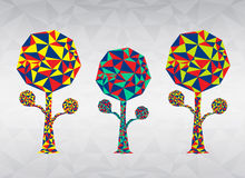 Colorful Tree polygon vector illustration Royalty Free Stock Photo