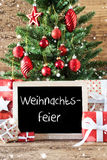 Colorful Tree, Snowflakes, Weihnachtsfeier Means Christmas Party Stock Images