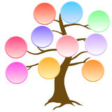 Colorful tree with space for text Stock Photo