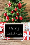 Colorful Tree With Text Merry Christmas Royalty Free Stock Image