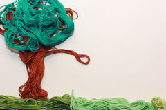 Colorful tree from threads Stock Photo