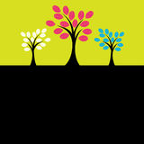 Colorful Tree. Vector Illustration Stock Images