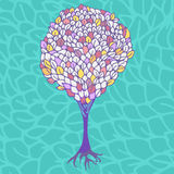 Colorful tree. Vector illustration  background Stock Image