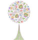 Colorful   tree on white background Stock Photo