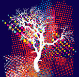 Colorful trees. In a decorative style Stock Images